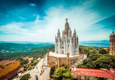 Tibidabo church  in Barcelona