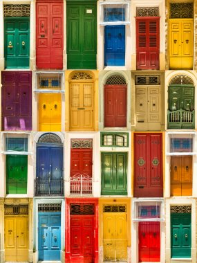 colourful front doors to houses