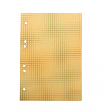 yellow sheet of paper