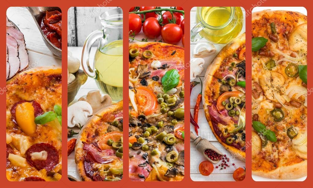 Pizza çeşitleri Stok Foto Tan4ikk 76259499