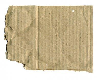 Brown corrugated cardboard torn