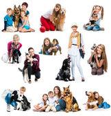 Fényképek gyermekek és felnőttek, a kutyák