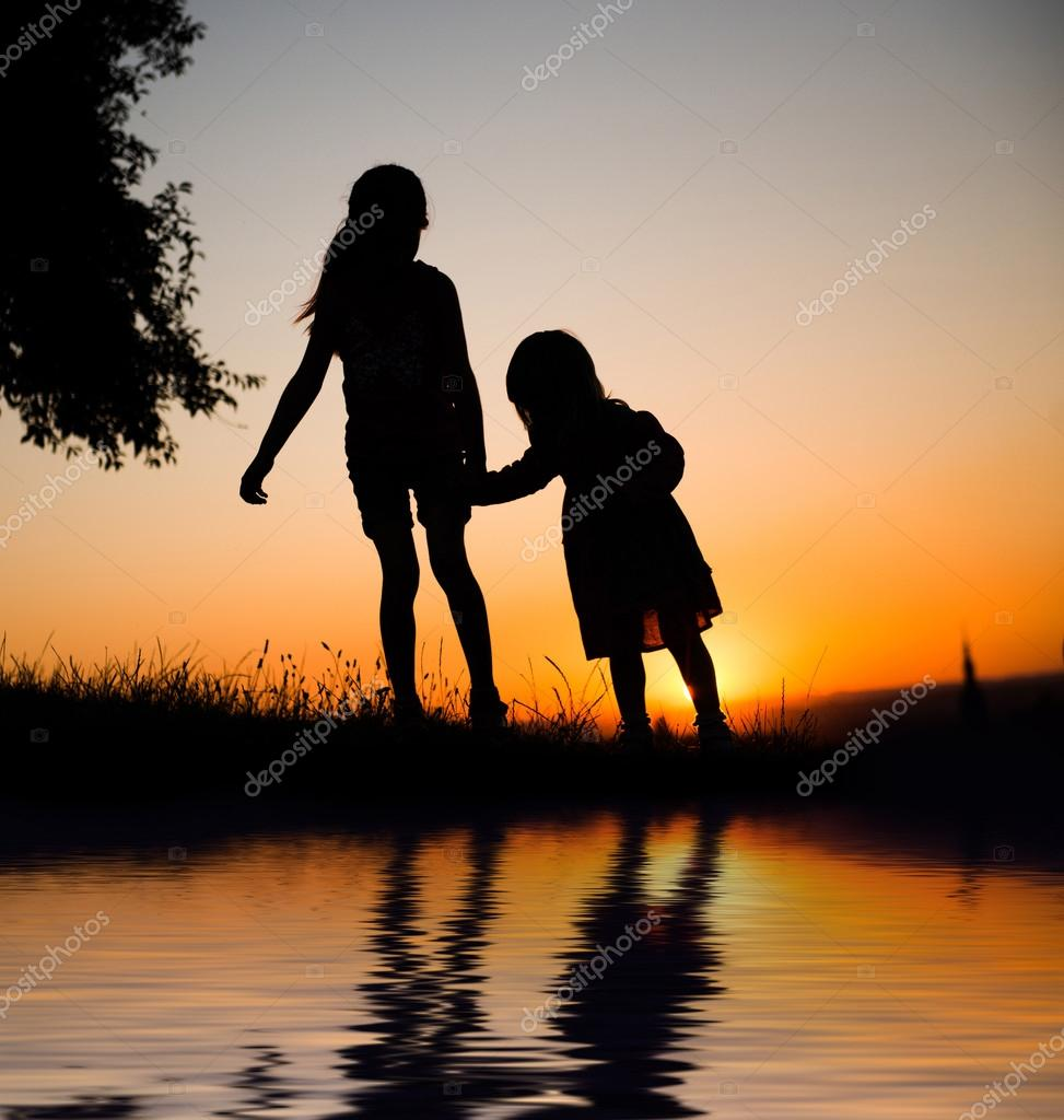 Sisters Silhouette