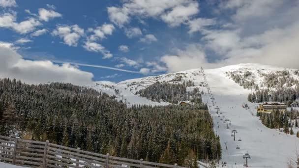 Skigebiet in den österreichischen Alpen
