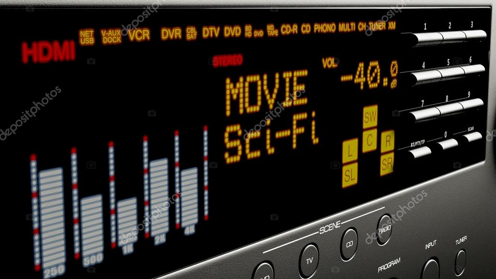 Home cinema system multimedia 3d illustration stock vector