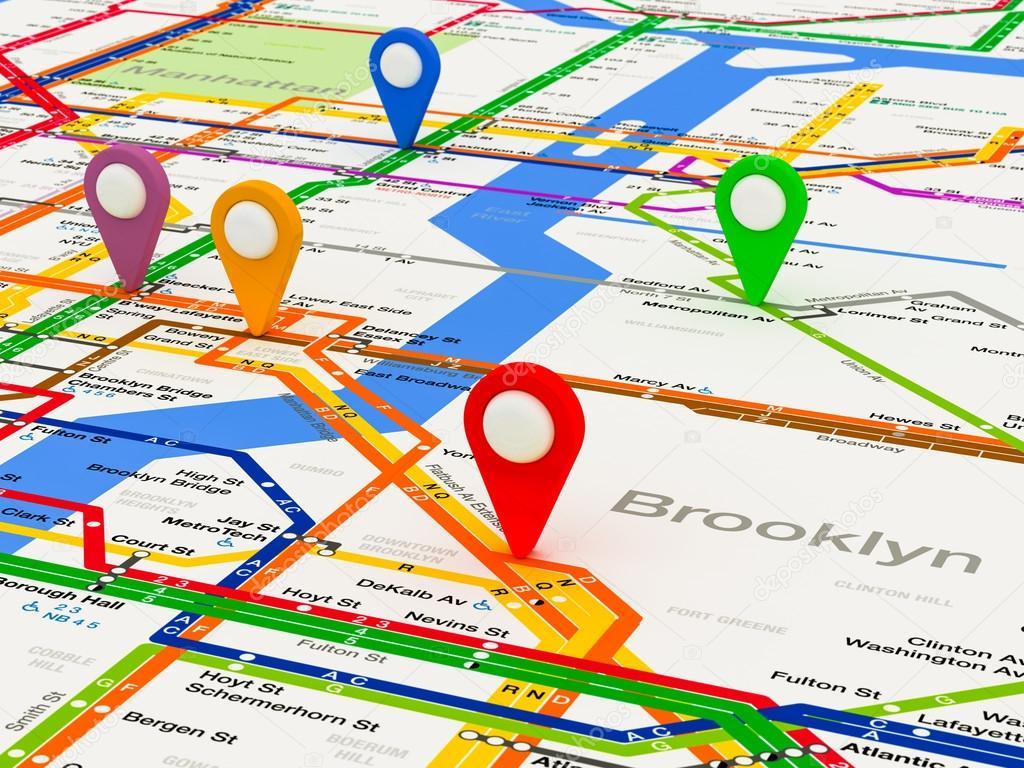 Fort Greene Subway Map.New York Navigation Subway Map Stock Photo C Zamula 65926133