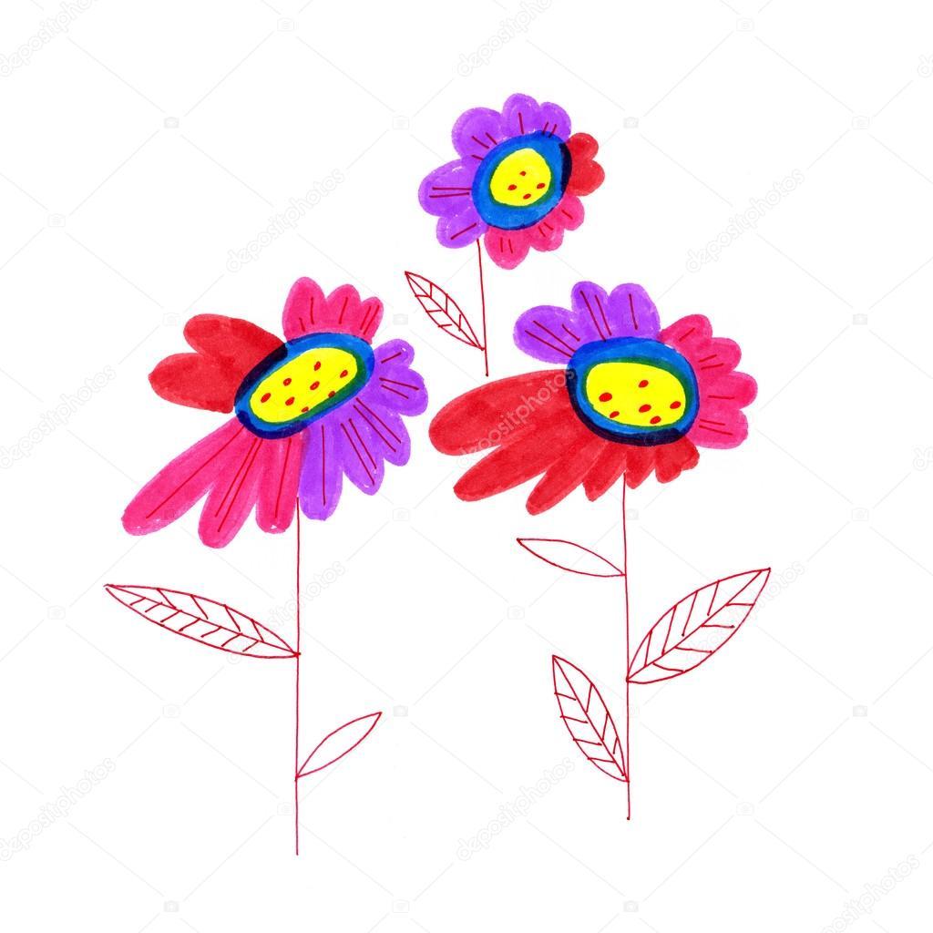 Рисунки с руки цветы