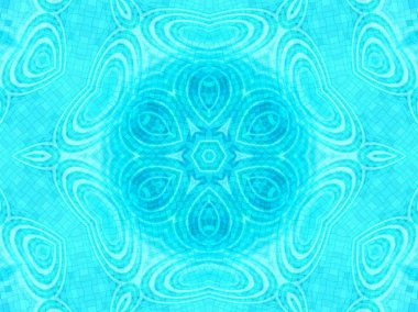 Blue tile background with concentric water ripples pattern