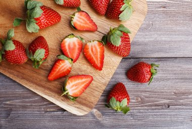 strawberry on the board