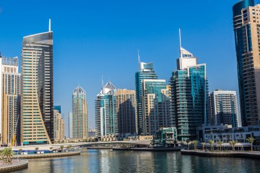 Dubai marina in summer day
