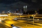 Fotografie Dubaj Dowtown silnici v noci