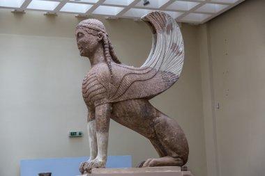 Statue of Sphinx in Delphi museum