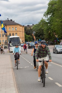 Bicyclists on nice bikes