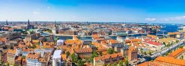 Large panorama view of Copenhagen in Denmark stock vector
