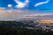 Fotografie panoramatický pohled na Barcelonu