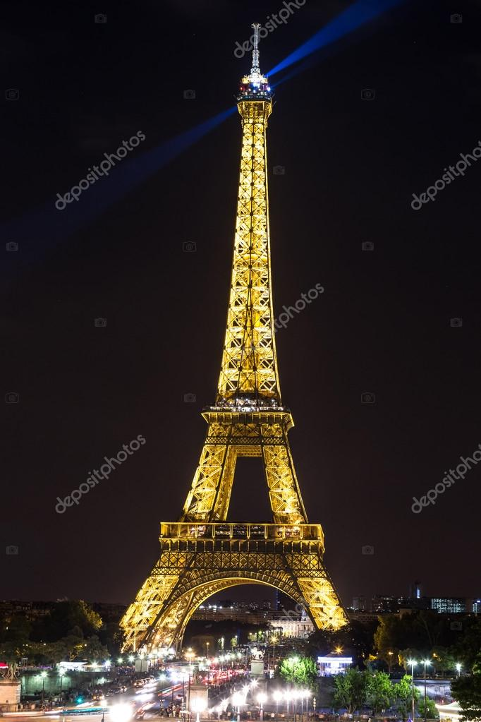 Eiffel Tower at night time