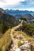 Fotografie Alpen Berge und Wald, Deutschland