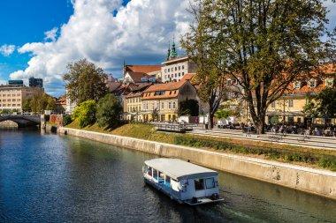 Ljubljana river embankment, Slovenia