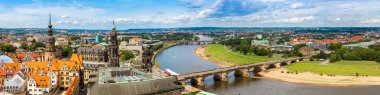 Dresden and river Elbe