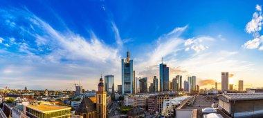 Frankfurt with Hauptwachen at sunset