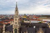 Luftaufnahme am Marienplatz-Rathaus