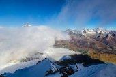 Matterhorn peak above clouds