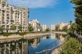 Photo Dambovita river in Bucharest