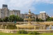 Central city fountain in Bucharest