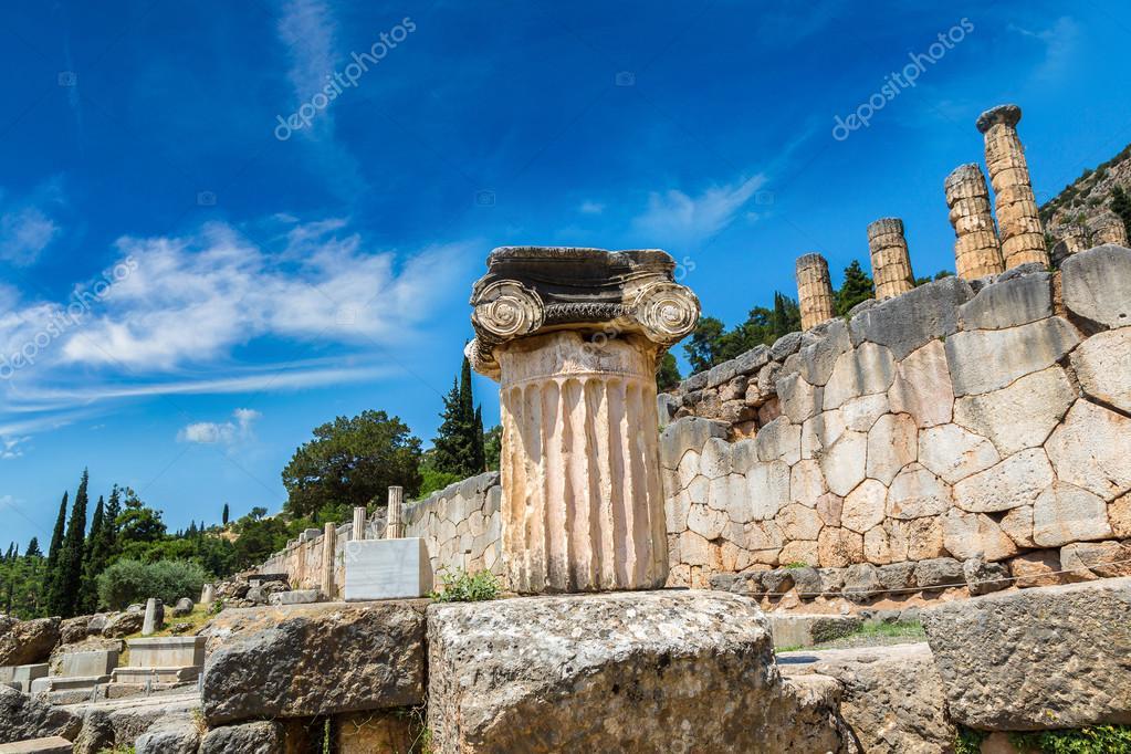 Ancient Greek column in Delphi