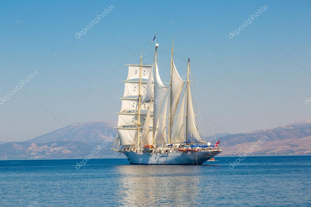 Sailing ship in summer day
