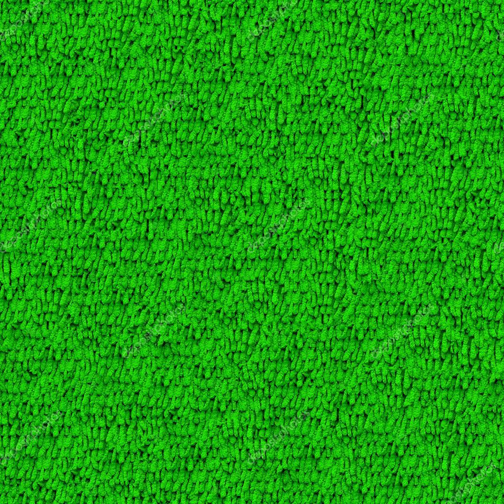 Seamless green carpet closeup texture background Stock Photo