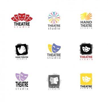 Set Of Theatre Studio Logo Design