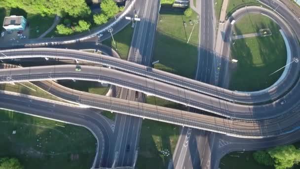 Letecký pohled na dálnici