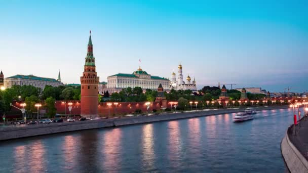night view of  Moscow Kremlin