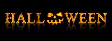 Halloween text - old jack-o-lantern