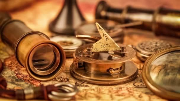 Ročník cestování objekty staré mapy