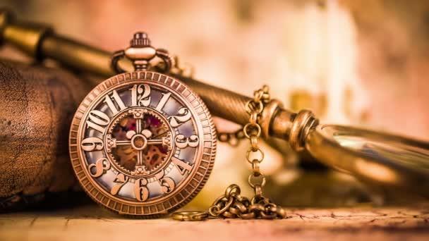 앤틱 회 중 시계