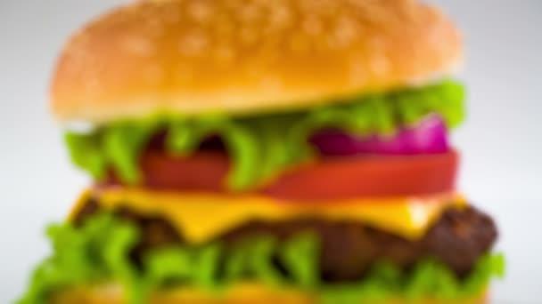 Leckere Hamburger cheeseburger