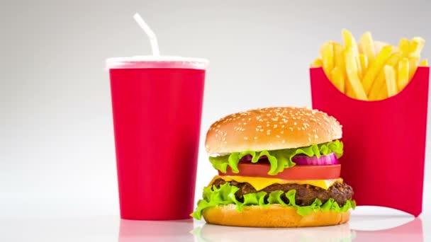 Tasty hamburger cheeseburger