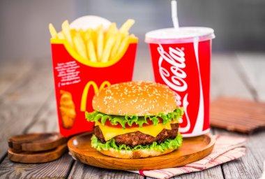 McDonald's food.