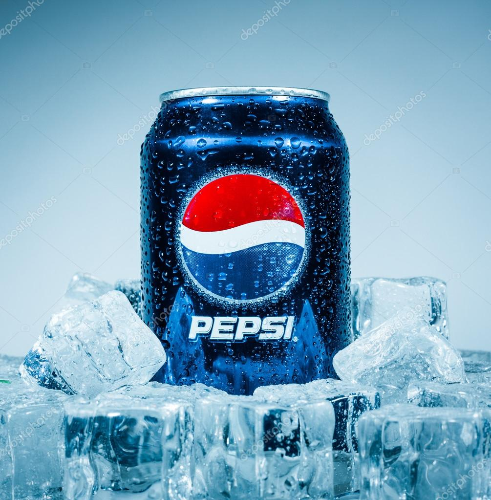 Can of Pepsi cola.