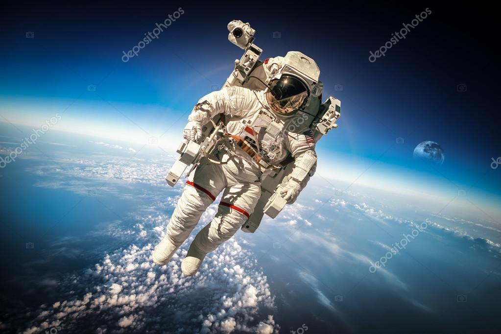 astronaut chilling in space - HD