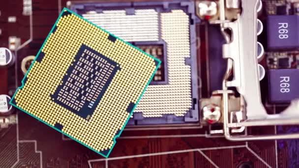 modern processzor és egy otthoni számítógép alaplap