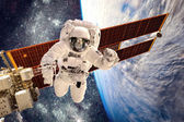 Internationalen Raumstation und astronaut