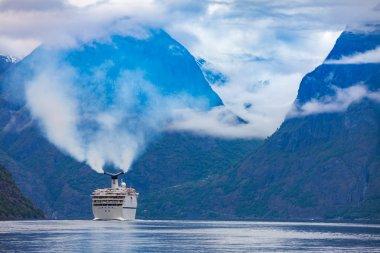 Cruise Liner On Hardanger fjorden