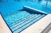 Schody jasné modré plavecký bazén