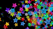 glass stars looks as brilliants, rubies, sapphires