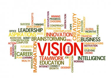 Business vision concept word cloud stock vector