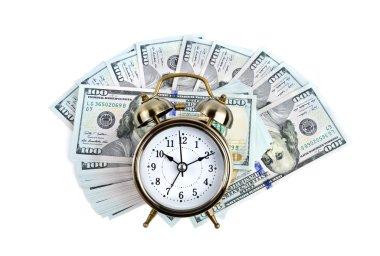 Alarm clock on money