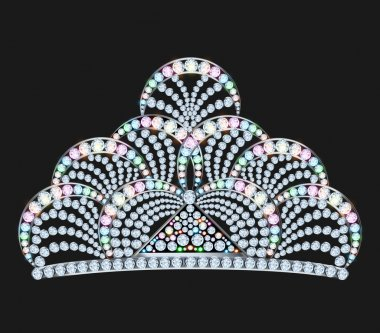 diadem feminine with brilliant gems on black